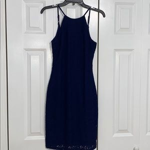 Lulus Navy Blue Body Con Dress